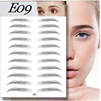 11 Pair Eyebrow Card Eyebrow Shaping Stencil Sticker Grooming Kit, 4D Hair-Like Authentic Eyebrows Grooming Shaping Brow Shaper Makeup (E09)