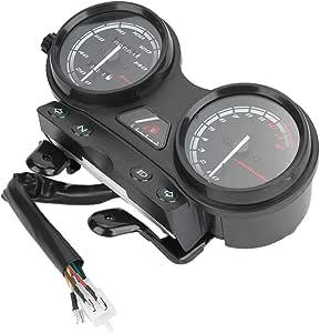 Aramox Motorrad Tachometer Instrument Digitalanzeige Tachometer Kilometerzähler Geschwindigkeitsmesser Fit Für Ybr 125 Auto