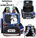 Unbekannt Schulranzen -  Star Wars - Stormtrooper  - SUPERLEICHT & ergonomisch + anatomisch - Schulrucksack / mit Reflektor - Tasche - wasserfest & beschichtet - Ergo..