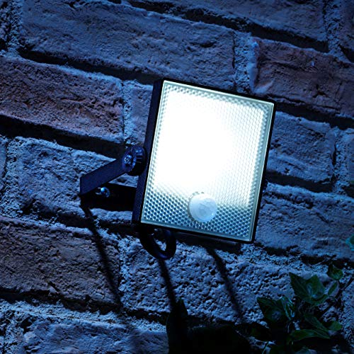 Auraglow 10W LED Bewegung aktiviert PIR Sensor Sicherheitsflutlicht Outdoor Slim Profil Wandleuchte - 150w EQV (Outdoor Wandleuchte-bewegungs-sensor)