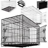 Seebras Auto Hundetransportbox Hundebox Hundekäfig Transportbox Gitterbox Drahtkäfig (XL)