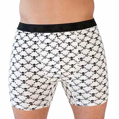 HERREN BOXERSHORTS l Unterhosen Shorts Slips l Rockabilly Totenkopf Marihuana l in 4 FARBEN l 100% Baumwolle l S M L XL XXL 11091-761