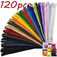 120pz Cerniere Lampo Zip Cerniere Colorate Chiusure Lampo Nylon Cerniere Lampo di 20 Colori per Cucire Mestiere Materiali Fai da te