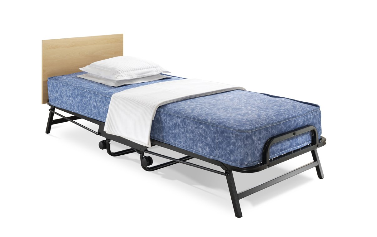 jaybe crown single folding bed with windermere contact sprung mattress amazoncouk kitchen u0026 home
