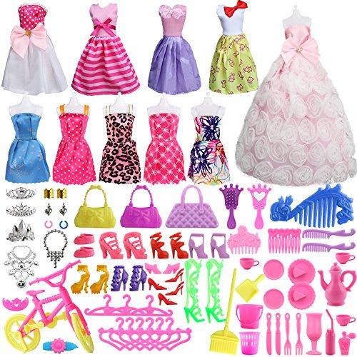 85 Pcs Doll Clothes Set for Barb...