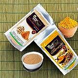 Online Quality Store Kasturi Turmeric Powder for Face(100 Grams) + Sandalwood Powder Pure Organic for Skin Whitening(100 Grams) - 2 in 1 Combo Pack, Total 200g