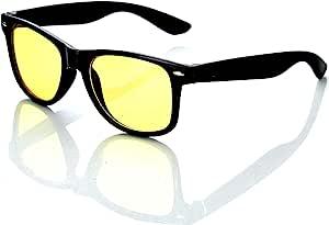 Hac24 Nachtfahrbrille Im Retro Look Nachtsichtbrille Nachtbrille Sonnenbrille Auto Motorrad Kontrast Brille Auto