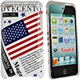 Accessory Master Coque hybride pour Apple iPod touch 4 / conception de 'America flag with words'