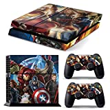 PS4 Original COMPLETO DEL CORPO Accessorio dell'involucro adesivi copertura della pelle Decal per PS4 Playstation 4 Original #Heroes2#