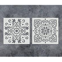 GSS Designs - Juego de 2 plantillas para pintar muebles de pared de madera, 30