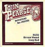 John Pearse 5200L Jeu de cordes de Bouzouki irlandais à boucle Naturel