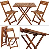 Wooden Garden Dining Furniture Set Folding Table Chairs set Acacia hardwood Outdoor