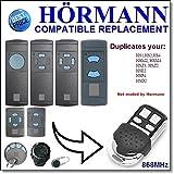 Hörmann HSM2, HSM4, HS1, HS2, HS4, HSE2, HSD2-A, HSD2-C, HSP4, HSP4-C, HSZ1, HSZ2 Kompatibler Ersatz Fernbedienung 868,3 MHz Fester Code
