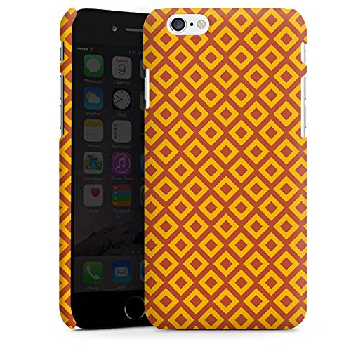 Apple iPhone X Silikon Hülle Case Schutzhülle Rauten Orange Muster Premium Case matt