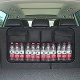 Auto Kofferraum Organizer Kofferraumtasche Hängende Taschen Faltbare Auto Aufbewahrungstasche Multifunktion Autotasche Sitztasche Lagerung (Schwarz)