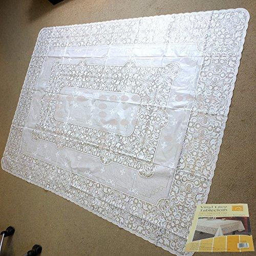Vinyl Tischdecke-kein Bügeln erforderlich-verschiedene Form und Größe, Lace, 135 X 180 CM RECTANGLE