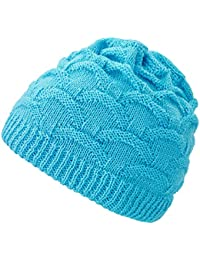4sold Wave para mujer gorro de lana gorro tejido forro gorro de invierno  gorro de esquí ac8802a47e0