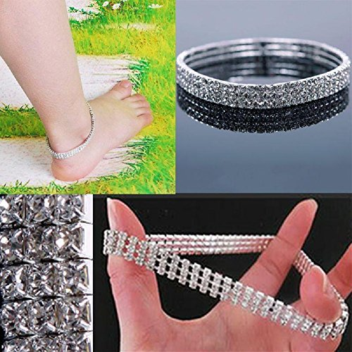 trod-stretchable-elastic-full-rhinestone-anklet-ankle-foot-jewelry-barefoot-bracelet-bangle-3-layer