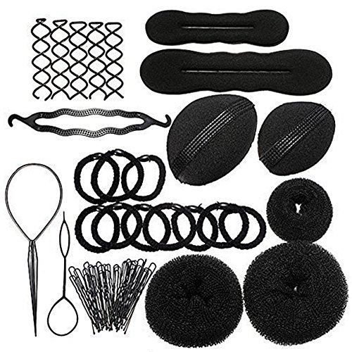 Qiao Nai (TM) Haare Frisuren Set Frisurenhilfe Set Haare Styling Set Haar Clip-Pads Haar Frisur Klammer Haar Styling Werkzeug Set Haar Styling Zubehör Haar Styling festgelegt Kit (Qn-set)