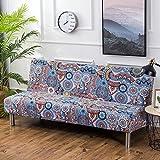 iShine Sofabezug Überwürfe Ohne Armlehnen Schlafsofa mit Stretch Sofahusse Slipcover Sofa Abdeckung in verschiedene Größe und Farbe-A