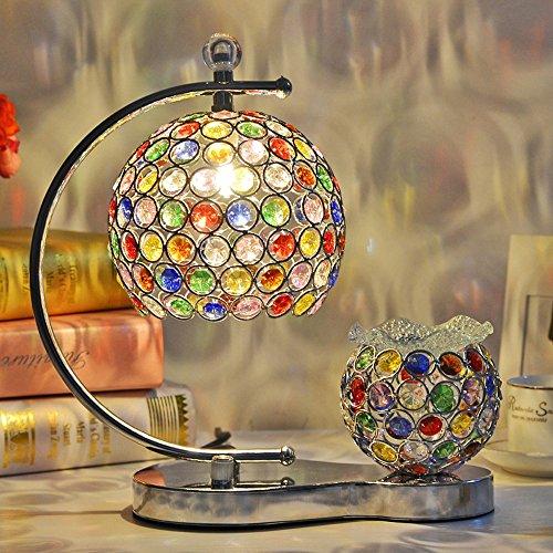 - Chrom-kristall-tisch-lampe (Neixy - Europäische Kristalltisch Lampe Eisen Rahmen Glas Fringe Luxus Kristall Tischlampe Romantische Warm Einfache Moderne Glasmalerei Dimmible Hochzeit Aromatherapie Tischleuchten mit 2-Lights ( Color : Style 1 ))