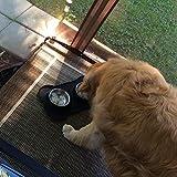 URPOWER 2 Stück 770ml Edelstahl Fressnapf für Hunde und Katze Edelstahl mit Kein Überlauf Rutschfester Silikonmatte 53 oz Doppel Schüssel für Hundefutter und Wasser - 6
