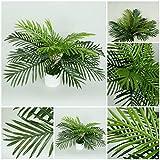 51 cm. Palmenbusch künstliche Palme Kunstpflanzen Blätter Dekor Kunstpalmen Z089