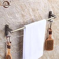 KHSKX Piegatura antico bronzo Qing asciugamano, portasalviette bagno porta-carta igienica