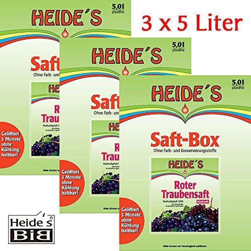 Roter Traubensaft 3er-Pack, 3 x 5 Liter