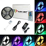 ALED LIGHT Tira de Luz Impermeable IP65 LED Strip RGB 5M 5050 SMD Cinta LED 300 (60 LED/Metr...
