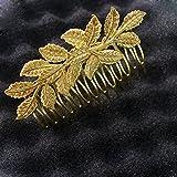 Imported Charm Bridal Wedding Gold leave...