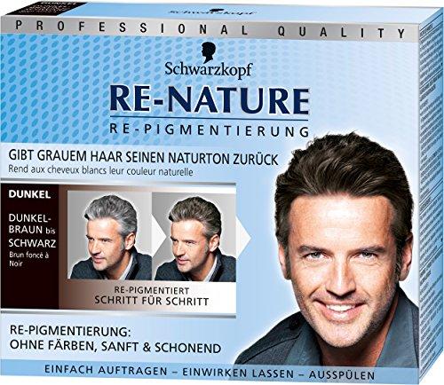 Schwarzkopf Re-nature Re-Pigmentierung für Männer, dunkel, 3er Pack (3 x 100 - Produkte Färben Haare