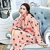 Camisón de franela hombres de las mujeres otoño y del invierno de terciopelo coral pijamas Batas engrosamiento Home Service Plus Tamaño Yukata. ( Tamaño : L )
