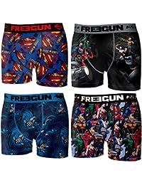 Freegun - Lot de 4 boxers Homme - DC COMICS