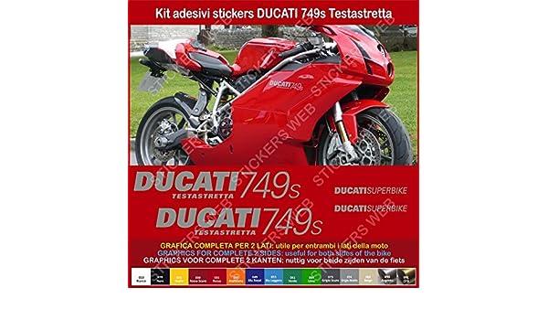 0374 Adesivi DUCATI 749s Testastretta stickers carena compatibili replica Cod