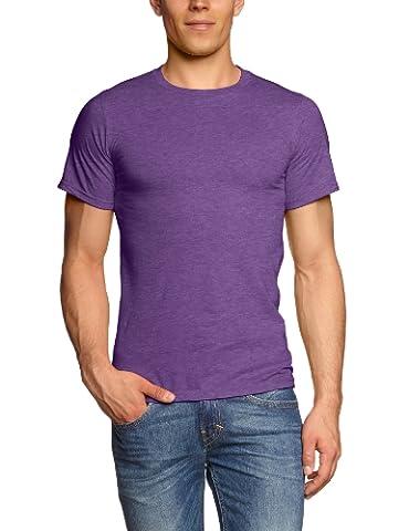 Anvil Men's Basic Cotton Double Stitched Short Sleeve T-Shirt, Heather