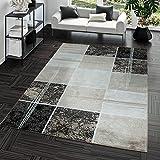 Teppich Günstig Karo Design Modern Wohnzimmerteppich Braun Beige Creme Top Preis, Größe:60x100 cm