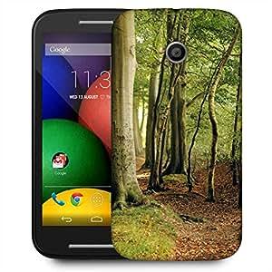 Snoogg Beach Forest Trees Green Nature Designer Protective Phone Back Case Cover For Motorola E2 / MOTO E22