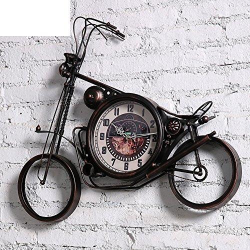 Eisen Motorrad Uhren/Kreative Wanduhren/Do Altart handbemalt-A