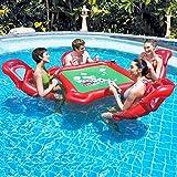 Aufblasbare Insel 4-Sitzer Floats See / Fluss Lounge Floß Sommer Strand Schwimmen Wassersport Spielzeug Und Air Pumb Für Erwachsene,A