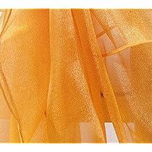 1,5m de ancho se vende por metros de tela de organza 65colores disponibles swagging forma boda decoración manualidades naranja
