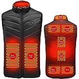 Uppvärmd väst, USB-värmeväst varm jacka med 3 valfria temperaturväst tvättbar väst för män kvinnor vinterväst för utomhusspor