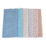 Souarts 6 Stück Stoffpakete DIY Baumwolltuch Punkt Muster