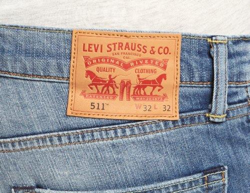 Levi's Herren Jeans 511 Slim Fit Blau (Harbour 1096)