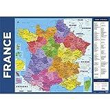 Erik - Sous-Main Carte de France des Régions - 34x49cm...