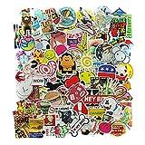 100 Stücke Aufkleber Graffiti Decals Bumper Stickers für Auto, Skateboard, Reisekoffer, Motorräder, Fahrräder, Boote, Laptop, Skatboard und auf Glatte Oberflächen