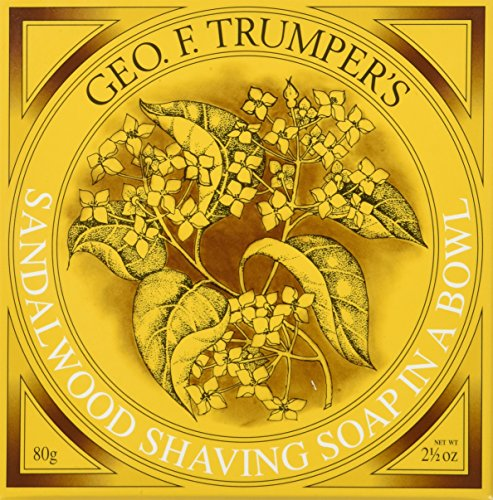 Geo F Trumper Wooden Shave Bowl - Sandalwood (Normal Skin) (Refill Bowl Shave)