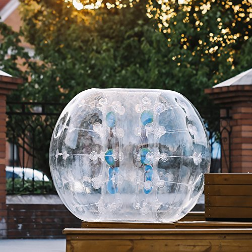 Mophorn Aufblasbarer ball 1.5M Durchmesser bumper ball Blow Up in 5 Minuten Bubble Soccer Bubble Fussball Für Erwachsene oder Kinder (1.5m)