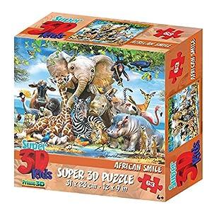 Howard HR13583 Robinson - Puzle para niños (33 Piezas), diseño de Animales