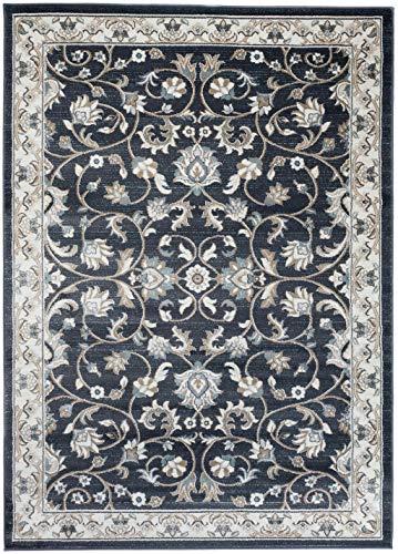 Carpeto Rugs Teppich Orientalisch Schwarz Anthrazit Wohnzimmer Esszimmer 80 x 150 cm S - Schwarz Persian Rug
